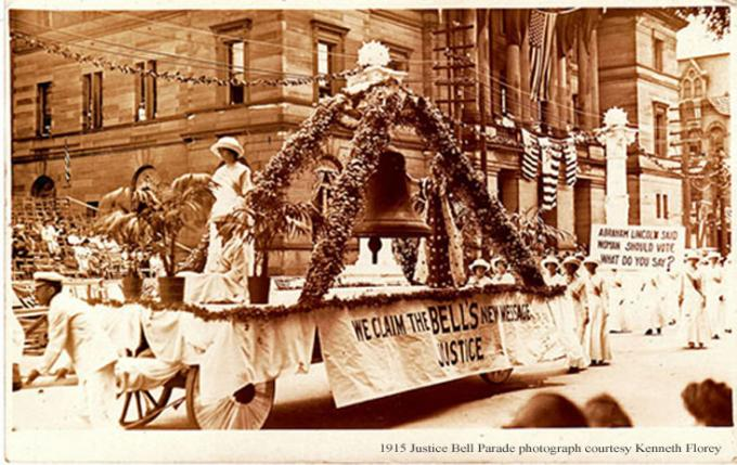 Justice Bell Parade 1915;  Learn about it on Jun 25 at 7 PM at Blue Bell